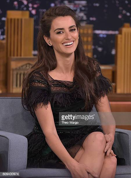 Penelope Cruz Visits 'The Tonight Show Starring Jimmy Fallon' at NBC Studios on February 10 2016 in New York City