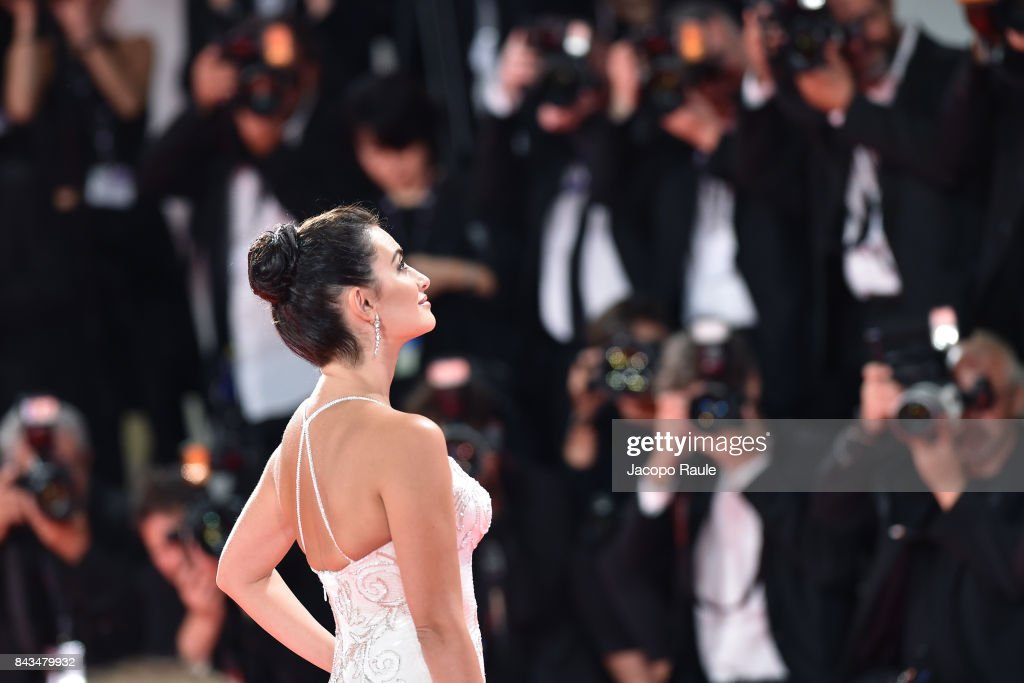 Penelope Cruz walks the red carpet ahead of the 'Loving Pablo' screening during the 74th Venice Film Festival at Sala Grande on September 6, 2017 in Venice, Italy.
