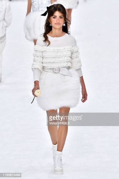 Penelope Cruz walks the runway during the Chanel Ready to Wear fashion show as part of the Paris Fashion Week Womenswear Fall/Winter 2019/2020 on...