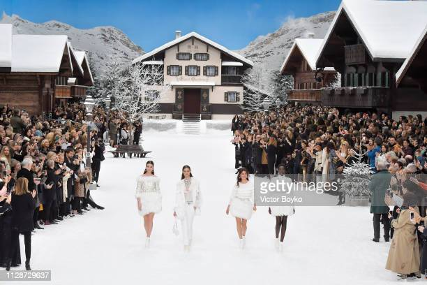 Penelope Cruz walks the runway during the Chanel show as part of the Paris Fashion Week Womenswear Fall/Winter 2019/2020 on March 5 2019 in Paris...