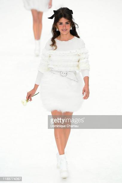 Penelope Cruz walks the runway during the Chanel show as part of the Paris Fashion Week Womenswear Fall/Winter 2019/2020 on March 05 2019 in Paris...