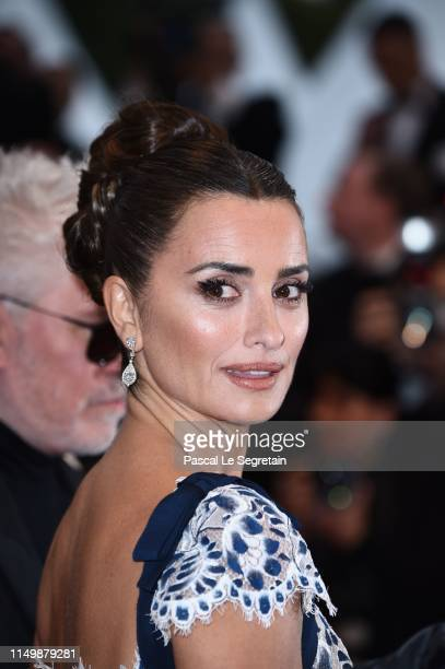 "Penelope Cruz wearing Atelier Swarovski fine Jewelry attends the screening of ""Pain And Glory "" during the 72nd annual Cannes Film Festival on May..."
