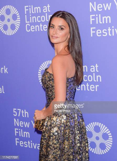 Penelope Cruz wearing dress by Chanel attends Wasp Network premiere during 57th New York Film Festival at Lincoln Center Alice Tully Hall