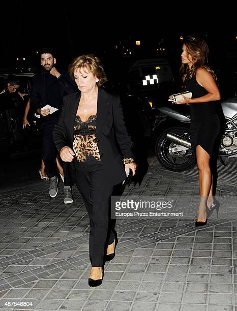 Penelope Cruz's mother Encarna Sanchez and sister Monica Cruz are seen attending the party after the premiere of 'Ma Ma' on September 9 2015 in...