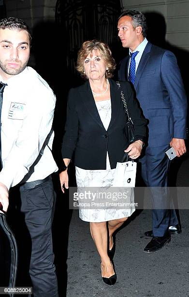 Penelope Cruz's mother Encarna Sanchez attends the dinner for 'Soy Uno Entre Cien Mil' directed by Penelope Cruz at Ten Con Ten restaurant on...