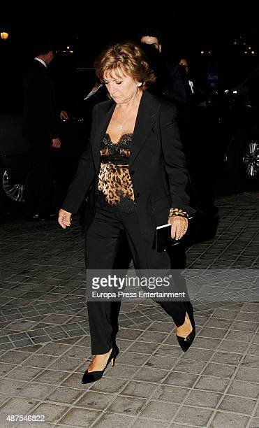 Penelope Cruz's mother Encarna Sanchez is seen attending the party after the premiere of 'Ma Ma' on September 9 2015 in Madrid Spain