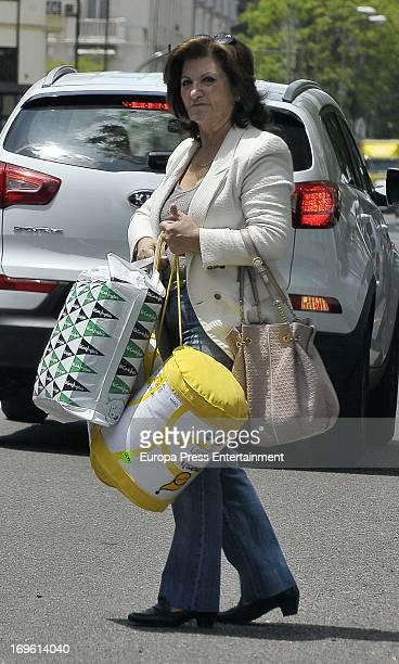 Penelope Cruz's mother Encarna Sanchez is seen on May 28 2013 in Madrid Spain