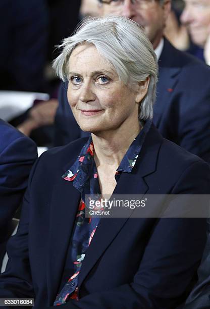 Penelope Fillon attends a campaign meeting with her Husband former French prime minister and member of rightwing political party 'Les Republicains'...