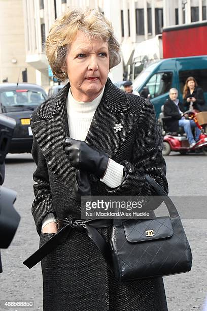 Penelope Keith attendss a Memorial Service for Sir Richard Attenborough at Westminster Abbey on March 17 2015 in London England