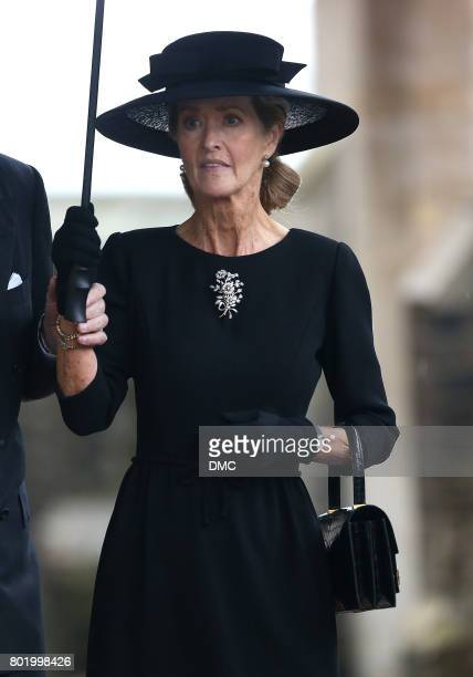 Penelope Knatchbull attends the funeral of The Countess Mountbatten of Burma at St Paul's Church on June 27 2017 in London England