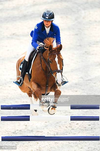 Penelope Leprevost of France on Flora de Mariposa in action during the Prix du Grand Palais as part of the first day of the Grand Prix Hermes of...
