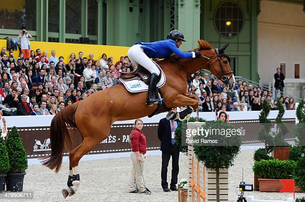 Penelope Leprevost of France on Flora de mariposa in action to win Le Saut Hermes Team Prix during the second day of the Grand Prix Hermes of Paris...