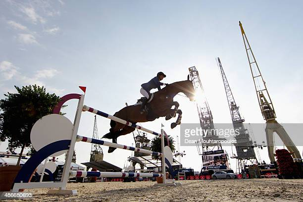 Penelope Leprevost of France on Vagabond de la Pomme competes in the CSI5* Table A with one jumpoff against the clock during day 2 of the Longines...