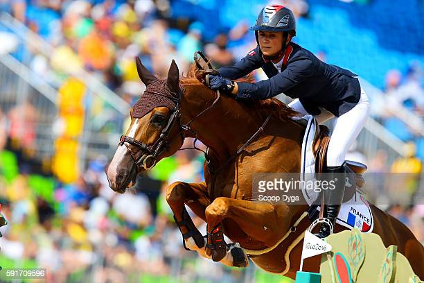 Penelope LEPREVOST of France rides FLORA DE MARIPOSA during Equestrian on Olympic Games 2016 in Rio at Olympic Equestrian Centre on August 17 2016 in...