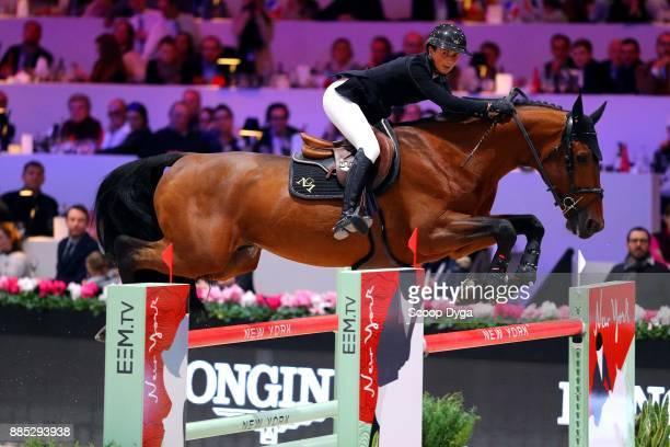 Penelope LEPREVOST of France riding Vagabond de la Pomme during the Longines Grand Prix of the Longines Masters Paris on December 3 2017 at Paris...