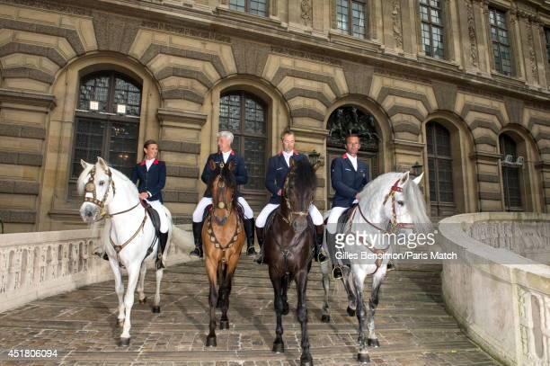 Penelope Leprevost riding Nador RogerYves Bost riding Taranto Aymeric de Ponnat riding Kingo and Patrice Delaveau riding with Quichotteis...