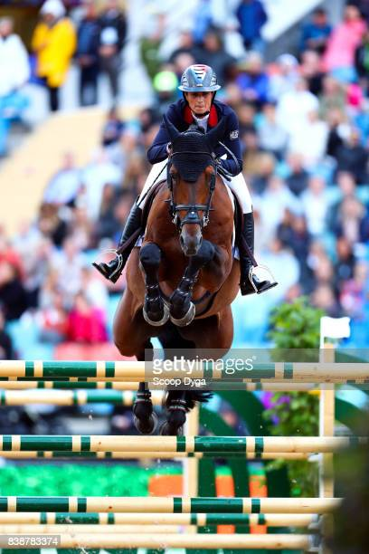 Penelope Leprevost riding Vagabond de la Pomme during Nations Cup First Round of the Equestrian European Championships on August 24 2017 in...