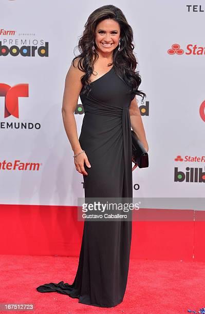 Penelope Menchaca arrives at Billboard Latin Music Awards 2013 at Bank United Center on April 25 2013 in Miami Florida