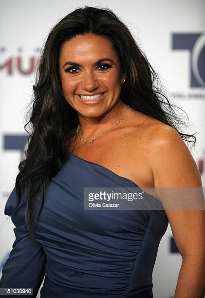 Penelope Menchaca arrives at Telemundo's Premios Tu Mundo Awards at Fillmore Miami Beach on August 30 2012 in Miami Beach Florida