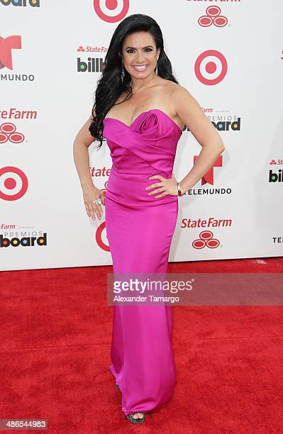 Penelope Menchaca arrives at the 2014 Billboard Latin Music Awards at Bank United Center on April 24 2014 in Miami Florida