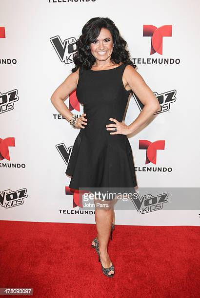 Penelope Menchaca attends Telemundo Press Conference to Launch La Voz Kids at JW Marriott Marquis on March 11 2014 in Miami Florida