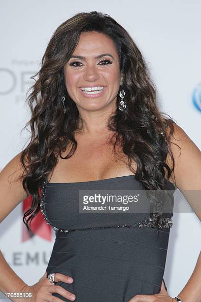Penelope Menchaca attends Telemundo's Premios Tu Mundo Awards at American Airlines Arena on August 15 2013 in Miami Florida