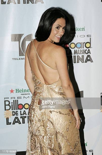 Penelope Menchaca during 2006 Billboard Latin Music Conference Awards Press Room at Seminole Hard Rock Hotel and Casino in Hollywood Florida United...