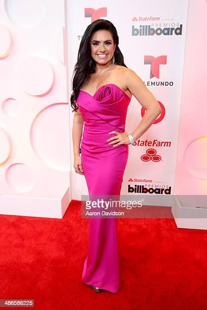 Penelope Menchaca poses backstage at the 2014 Billboard Latin Music Awards at Bank United Center on April 24 2014 in Miami Florida