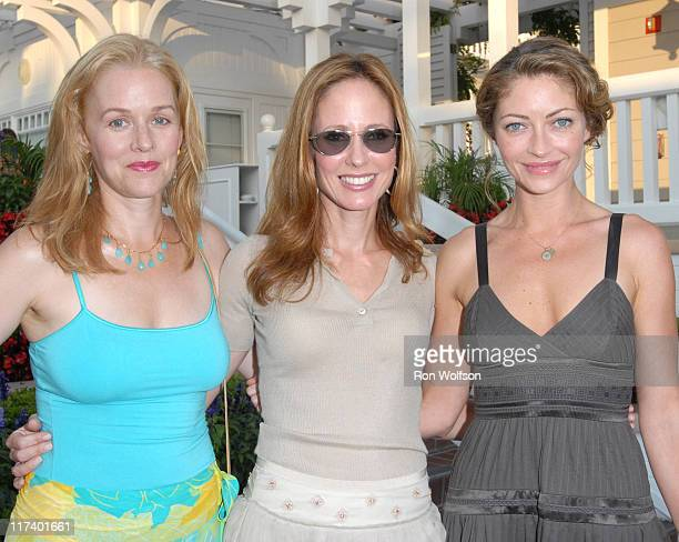Penelope Miller Dana Walden and Rebecca Gayheart during 20th Century Fox Television Producers and Stars Party at Shutters on the Beach in Venice...