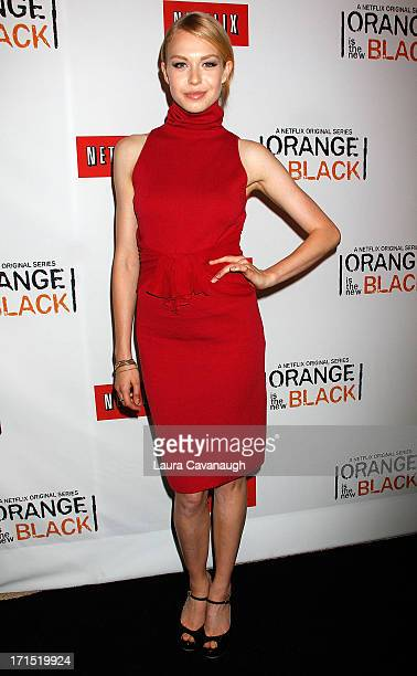 Penelope Mitchell attends 'Orange Is The New Black' premiere at The New York Botanical Garden on June 25 2013 in New York City