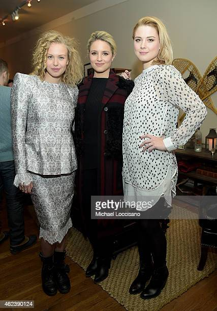 Penelope Mitchell Dianna Agron and Alexandra Breckenridge attend the 'Zipper' cast party at GREY GOOSE Blue Door during Sundance on January 27 2015...