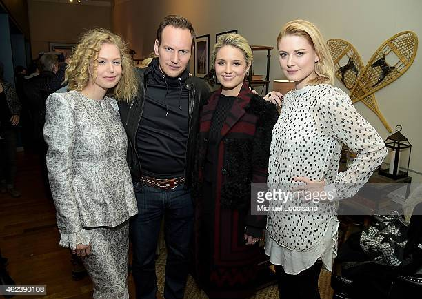 Penelope Mitchell Patrick Wilson Dianna Agron and Alexandra Breckenridge attend the 'Zipper' cast party at GREY GOOSE Blue Door during Sundance on...