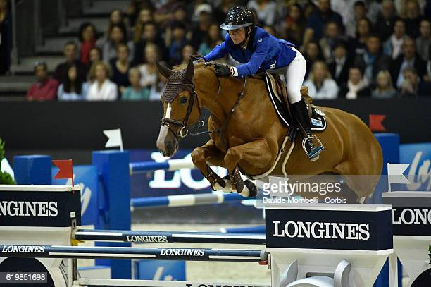 Penelope of France rides Flora de Mariposa during the Grand Prix Longines FEI World Cup by GL Events at in the EQUITA Lyon France Photo by Davide...