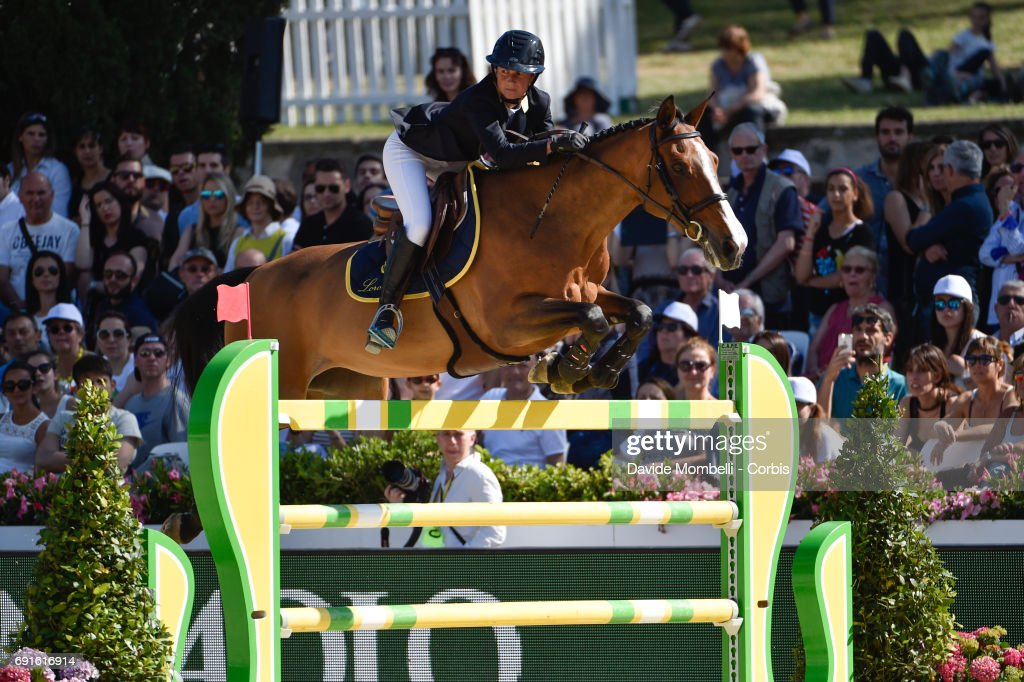 Penelope of France, riding Nice Stephanie, during the Piazza di Siena Bank Intesa Sanpaolo in the Villa Borghese on May 27, 2017 in Rome, Italy.