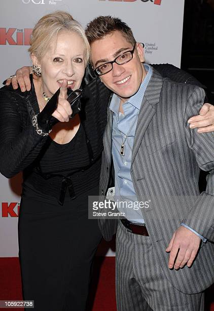 Penelope Spheeris and Eric Gores during Wheels Up Films' The Kid I Los Angeles Premiere Arrivals at Grauman's Chinese Theater in Hollywood California...