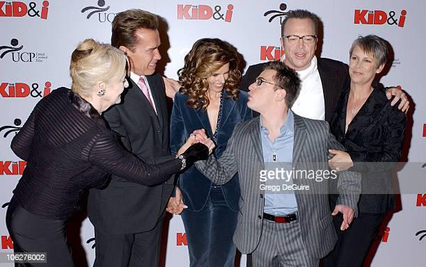 Penelope Spheeris Arnold Schwarzenegger Maria Shriver Eric Gores Tom Arnold and Jamie Lee Curtis