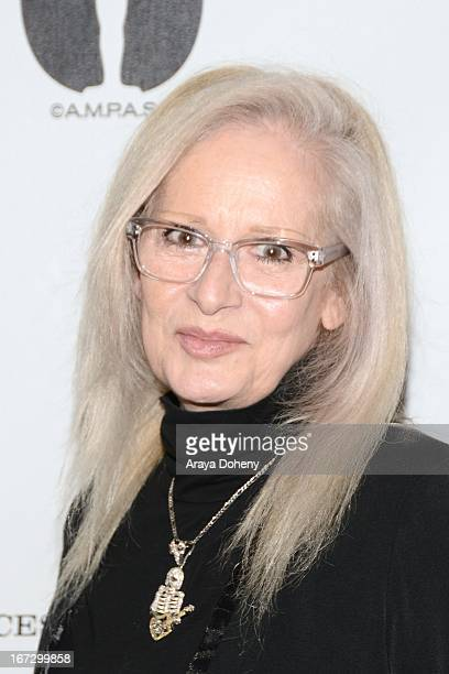 Penelope Spheeris attends the Academy of Motion Picture Arts and Sciences hosts a Wayne's World reunion at AMPAS Samuel Goldwyn Theater on April 23...