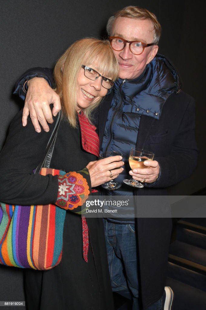 Penelope Tree (L) and Jasper Conran attend the LOVE, CECIL special preview screening with director Lisa Immordino Vreeland at Soho Hotel on November 29, 2017 in London, England.
