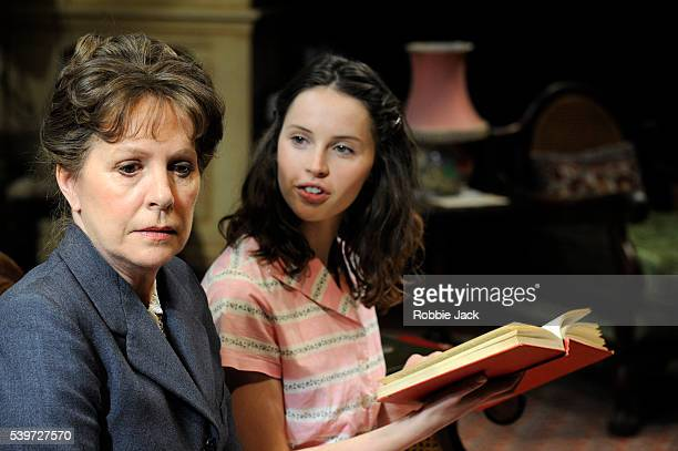 Penelope Wilton and Felicity Jones perform in Enid Bagnold's play The Chalk Garden at the Donmar in London