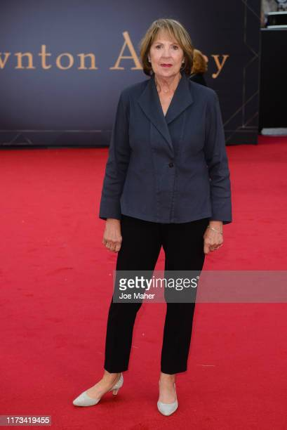 "Penelope Wilton attends the ""Downton Abbey"" World Premiere at Cineworld Leicester Square on September 09, 2019 in London, England."
