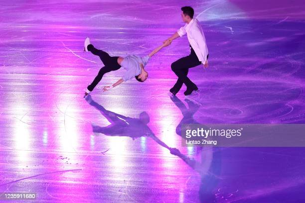 Peng Cheng and Jin Yang of China performs in the gala exhibition during day 4 of the 2021 Asia Open Figure Skating test event for the Beijing 2022...