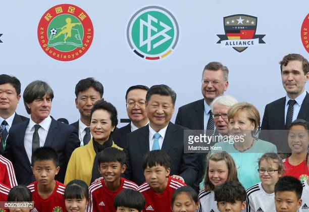 Peng Liyuan Chinese President Xi Jinping President of the German Football Association Reinhard Grindel President of the German Football League...