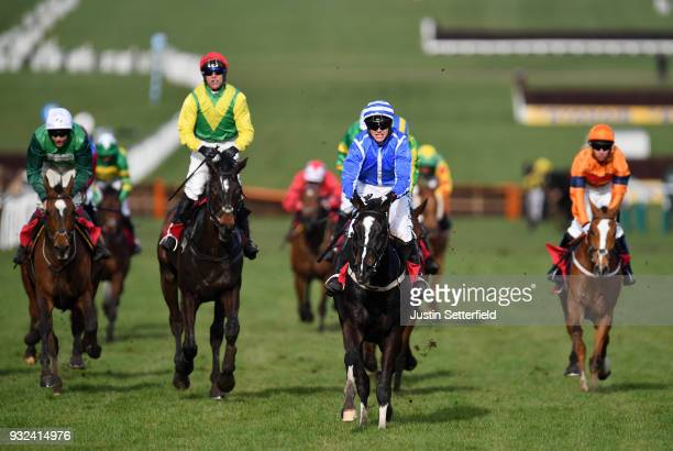 Penhill ridden by Paul Townend on their way to victory in the Sun Bets StayersÕ Hurdle at Cheltenham Racecourse on March 15 2018 in Cheltenham England