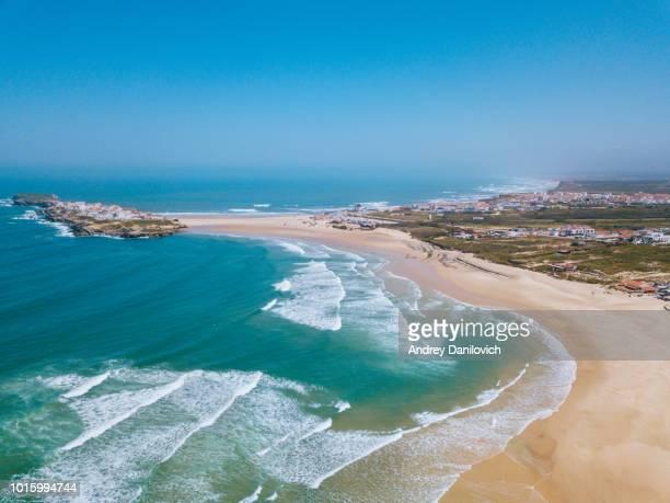 peniche - strand von oben - portugal stock-fotos und bilder