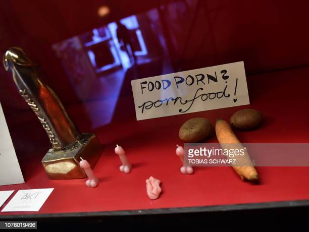 Penis shaped candles are on display during the Porn Film Festival in Berlin at the Moviemento cinema on October 25 2018 Ethical diverse and not a...