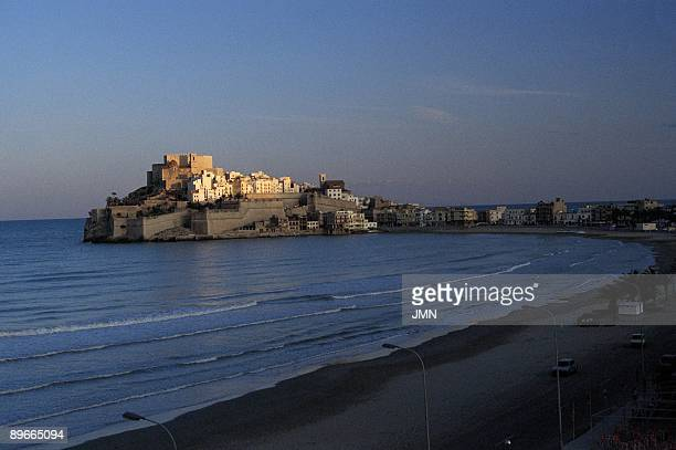 Peniscola. Castellon See panoramic of the medieval city, located in a rocky promontory surrounded of walls.