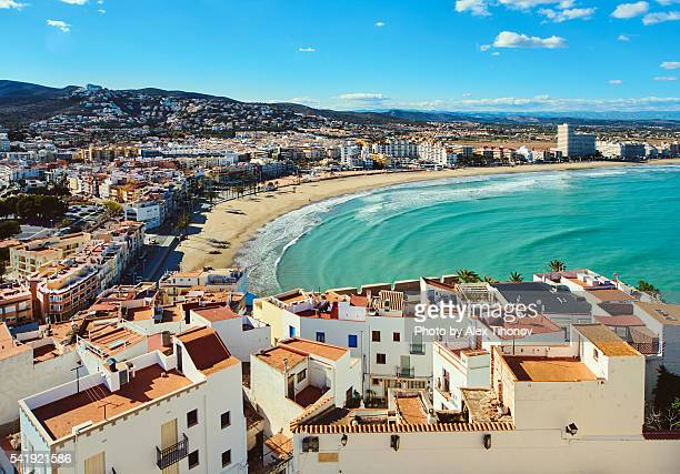 peniscola coastline - valencia spain stock pictures, royalty-free photos & images