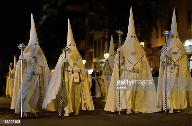 Penitents during Spanish Easter celebration