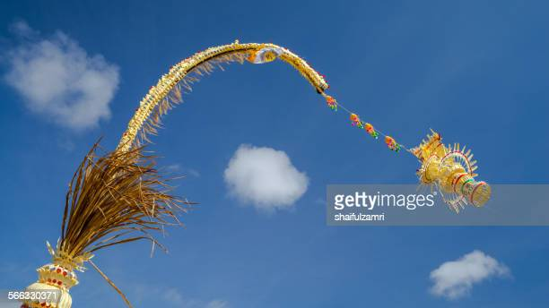 penjor from bali - shaifulzamri stock pictures, royalty-free photos & images