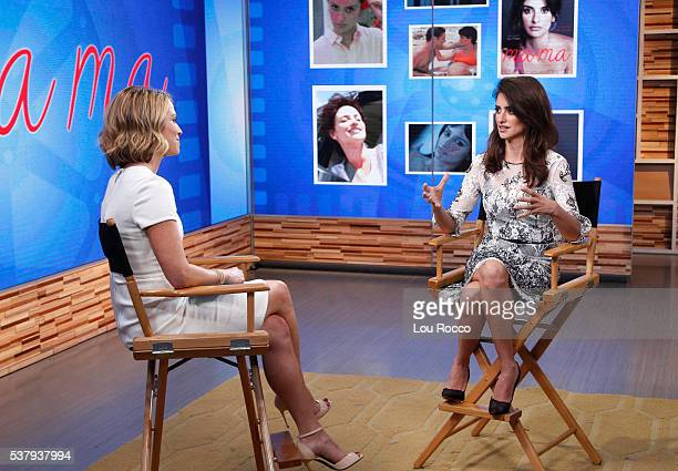 """Penélope Cruz is a guest on """"Good Morning America,"""" 6/1/16, airing on the Walt Disney Television via Getty Images Television Network. AMY ROBACH,..."""